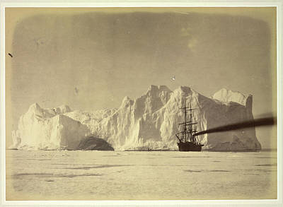 Between The Iceberg And Field-ice Art Print by British Library