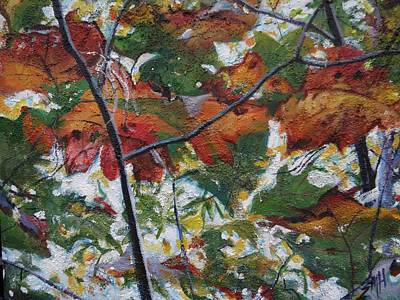 Painting - Between The Leaves by Sheila Holland