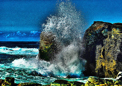 Ocean Photograph - Between The Rocks Edit by Paul Howarth