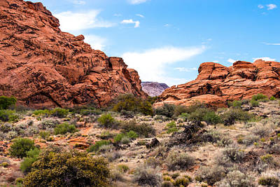 Photograph - Between The Sandstone by  Onyonet  Photo Studios