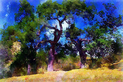 Painting - Between The Trees by Danuta Bennett