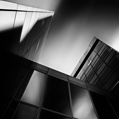 Semi Abstract Photograph - Between Towers by Dave Bowman