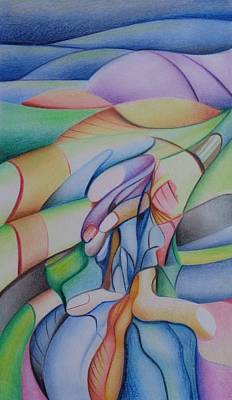 Abstract Forms Drawing - Betwin Abstract by Extranjerocus