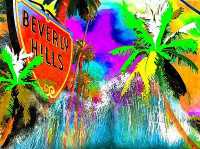 Beverly Hills Mixed Media - Beverly Hills Abstract by Daniel Janda