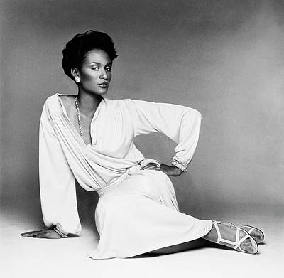Beverly Johnson Wearing A Blouson Jersey Dress Art Print