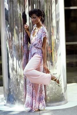 Photograph - Beverly Johnson Wearing A Kimono by Arthur Elgort