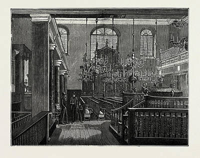 Synagogue Drawing - Bevis Marks Synagogue by Litz Collection