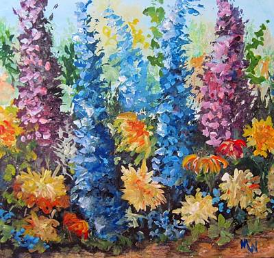 Art Print featuring the painting Bev's Garden by Megan Walsh