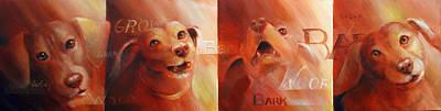 Barking Painting - Beware Of Bark by Vanessa Bates