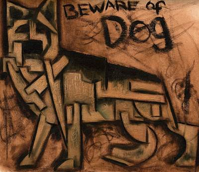 Tommervik Beware Of Dog Art Print Art Print by Tommervik