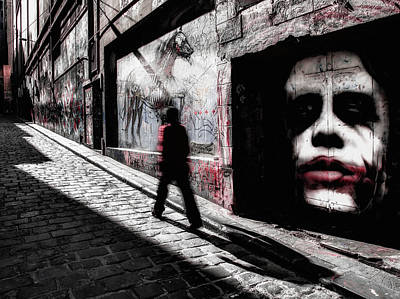 Joker Wall Art - Photograph - Beware Of The Joker by Margaret Netherwood