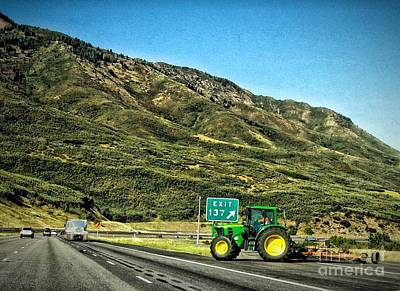 Photograph - Beware Of Tractor by Phyllis Kaltenbach