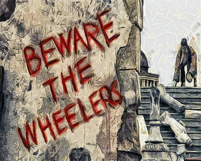 Drawing - Beware The Wheelers by Joe Misrasi