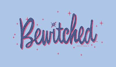 Halloween Digital Art - Bewitched - Retro Logo by Brand A