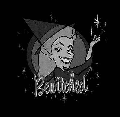 Halloween Digital Art - Bewitched - Vintage Witch by Brand A