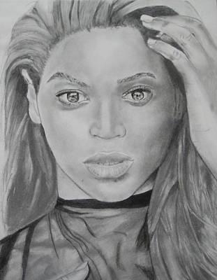 Drawing - Beyonce by Aaron Balderas