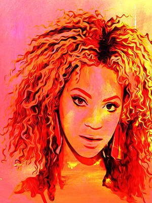 Art Print featuring the painting Beyonce by Brian Reaves