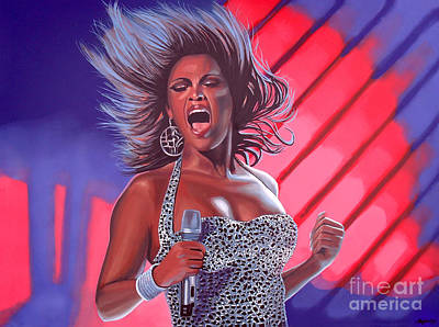 Concert Painting - Beyonce by Paul Meijering