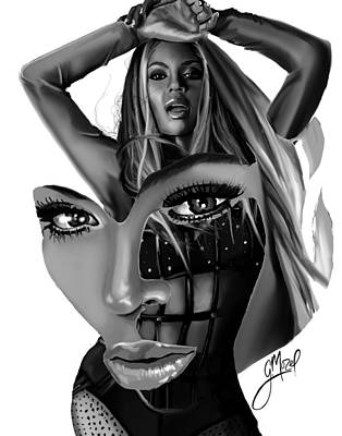 Abstract Realism Digital Art - Beyonce... Pieces by George Mozel