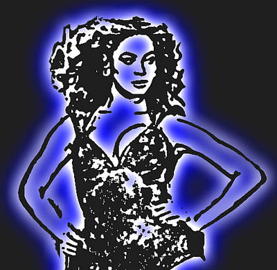 Digital Art - Beyonce Radiant And Glowing by Tommy Midyette