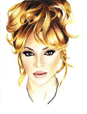 Hop Drawing - Beyonce by Veronica Crockford