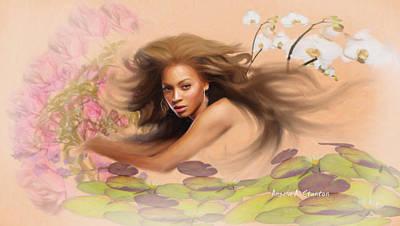 Beyonce's Dream Art Print by Angela A Stanton