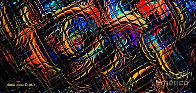 Digital Art - Beyond A Digital Abstract Art by Annie Zeno