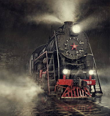 Steam Photograph - Beyond Express by Dmitry Laudin