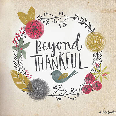 Beyond Thankful Art Print by Katie Doucette