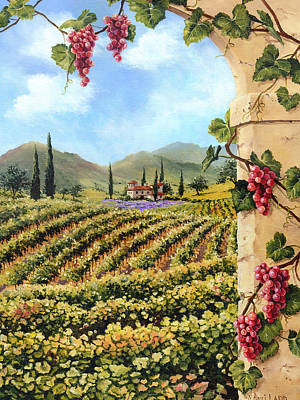 Winery Painting - Beyond The Arbor by Monti Ladd