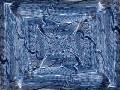 Digital Art - Beyond The Barrier Blues by Tim Allen
