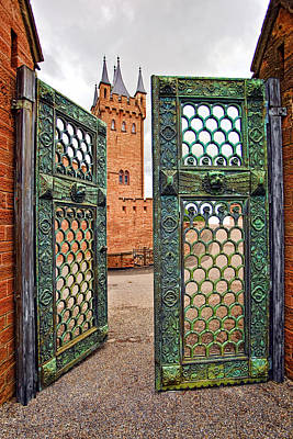 Castle Photograph - Beyond The Courtyard Gate by Marcia Colelli