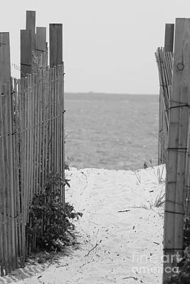 Photograph - Beyond The Dunes Bw by Barbara Bardzik