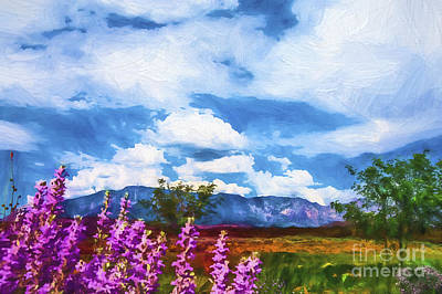 Photograph - Beyond The Flowers Paining by Rick Bragan