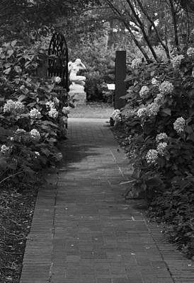 Photograph - Beyond The Garden Gate - Black And White by Suzanne Gaff