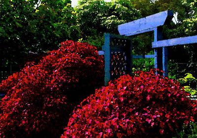 Beyond The Garden Gate Art Print by James Temple