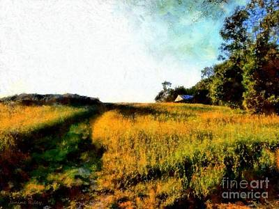 Beyond The Hill  Art Print by Janine Riley