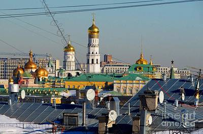 Moscow Skyline Photograph - Beyond The Rooftops 2 by Anna Yurasovsky