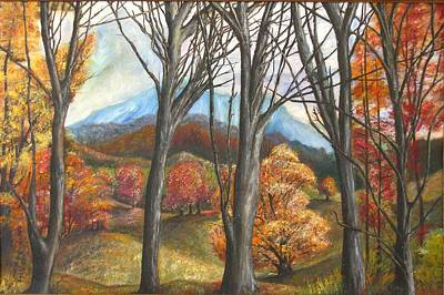 Painting - Beyond The Trees by Michael Anthony Edwards