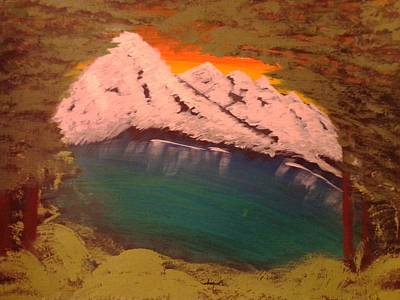 Mountain Painting - Beyond The Valleys Edge by Erica  Darknell