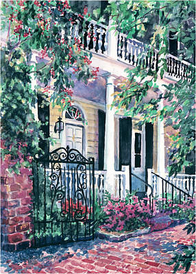 Charleston Houses Painting - Beyond The Wrought Iron by Alice Grimsley