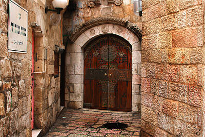 Photograph - Door In Jerusalem by Doc Braham