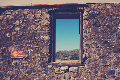 Winery Signs Photograph - Beyond These Walls by Laurie Search
