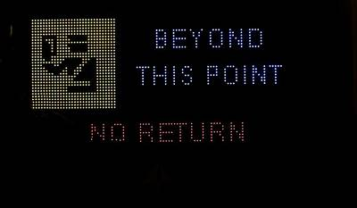 Police Traffic Control Photograph - Beyond This Point No Return by Georgina Noronha