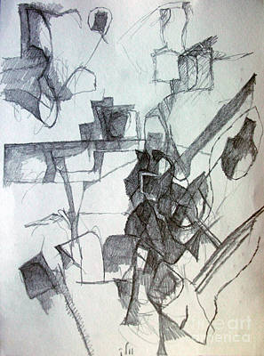 Creativity Drawing - Beyond Understanding 2 by David Baruch Wolk