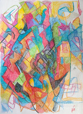 Creativity Drawing - Beyond Understanding 3 by David Baruch Wolk