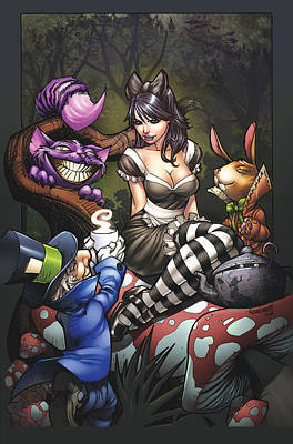 Cat Pin Drawing - Beyond Wonderland 02a by Zenescope Entertainment