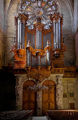 Beziers Pipe Organ Art Print