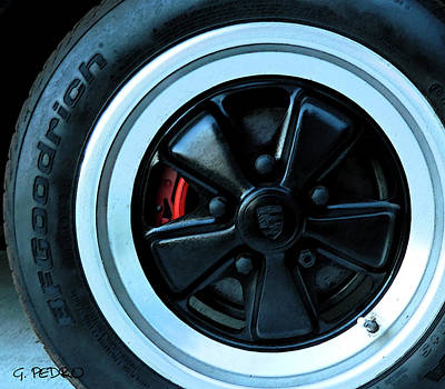 Painting - Bf Goodrich Tire On Porsche Fuchs Wheel by George Pedro