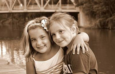 Photograph - Bff - Cousins by Linda Rae Cuthbertson